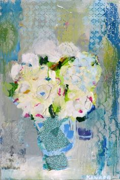 """""""Royal Bouquet""""  36x24 mixed media  Available at Anne Irwin Fine Art"""