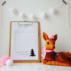 December - printable calendar | Elske | www.elskeleenstra.nl