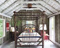 Hudson's Bay Blanket cabin, cottag, bed frames, sleeping porch, barn, night lights, tree houses, guest houses, bedroom designs