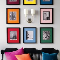 Gorgeous gallery walls to display your most memorable moments or works of art, right in your home.