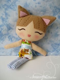 Felt Lolly Dolly Kitty