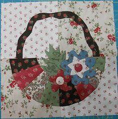 flower quilt blocks, basket block, cabin quilter, dresden basket, basket quilt, dresden plate, plate basket, dresden quilt, appliqu