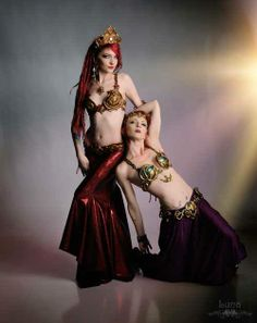 Balinese inspired belly dance set and the Egyptian Mina set. The models are Memphis Moonshine and Amanda Swafford. Photography by Photos by Luna