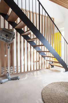 For basement stairs