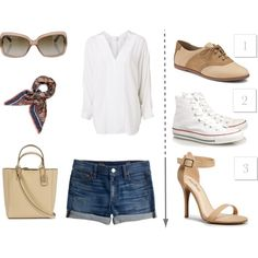 """""""How 3 different pairs of shoes could go equally well with this outfit."""" by natalia-koch on Polyvore"""