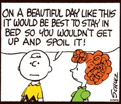 morning with Charlie Brown.