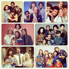 1980s TV families. I miss them all. 80s, memori, growing pains, married with children, famili tie, childhood, families, family ties, kid