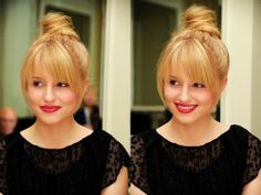 Shan this is how you should get your bangs done would be totally cute on you