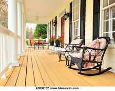 I love a front porch!  It's a great place to sit and watch the kids play.