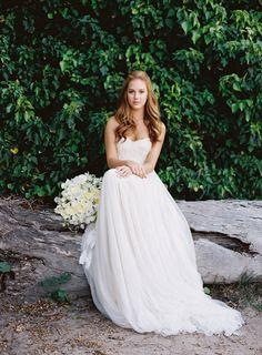 Lace Wedding Dress Chiffon Bridal Dress Ivory by MiLanFashion, $249.00