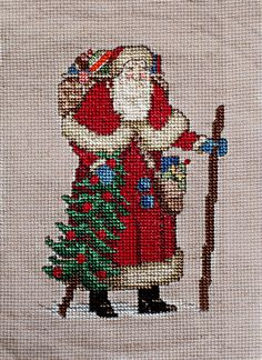 Cross-Stitch Santa