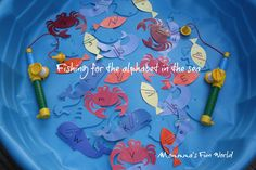 Momma's Fun World: Fishing for the alphabet in the sea