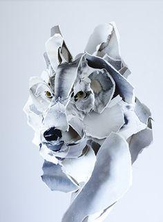 Wolf | Paper sculpture by Anna Wili Highfield