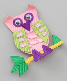 owl hair clip on #zulily