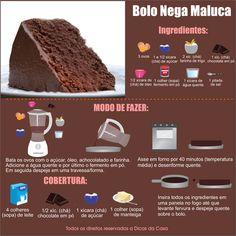"""Receita Bolo Nega Maluca. Veja esta e outras em nosso blog: <a href=""""http://dicasdacasa.com/bolo-nega-maluca/"""" rel=""""nofollow"""" target=""""_blank"""">dicasdacasa.com/...</a>"""