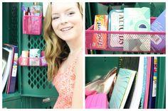 locker decororgan, locker idea, lockerdecor, girl locker decorations