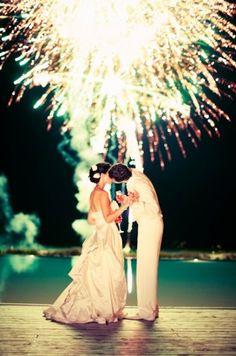 I want fireworks at my wedding!!!