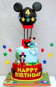 Hot Air Balloon Mickey Mouse Cake