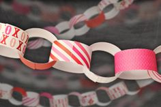 Download this valentine paper chain printable from Pear Tree Greetings!