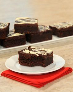 Triple-Chocolate Flourless Brownies - Martha Stewart Recipes