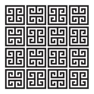 Greek Key pattern, stamp into dough or fimo clay, Greek swap