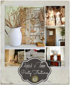 Vintage Style Decor Inspiration found at Knick of Time Tuesday - a Link Party, so come share your vintage style!!  KnickofTimeInteriors.blogspot.com