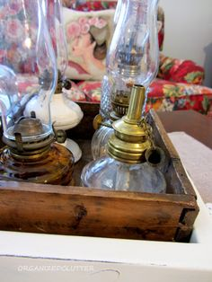 Organized Clutter: Decorating with Collections: Oil Lamps