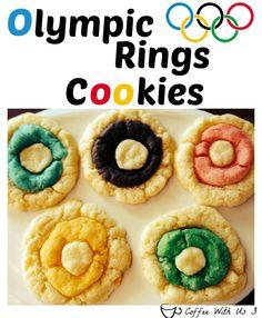 Olympic Rings Cookies ring cooki, cake mix cookies, cookie cutters, kid, dessert