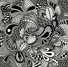 Free Zentangle How To Patterns | Zentangle Art: An Elegant Metaphor for Deliberate Artistry in Life ...