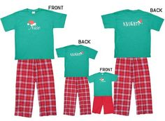 Tons of Matching Christmas Pajamas for the Whole Family (I know- I know..but I want to do this just once before she's too old to die of embarrassment!)