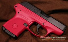 Rugar LCP 380 in Rasberry.... When I get my conceal and carry this is the gun I will be carrying :) it is seriously beautiful <3 my dad would so buy me this if he were here.