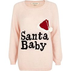 Pink Santa Baby knit jumper #riverisland #christmascracker #noveltyknitwear