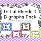 Initial Blends & Digraph pack - cards and labels for anchor charts, a Spin & Graph center activity and Cut & paste sorting sheets. Great resource for teaching 20 consonant blends & 4 digraphs! $