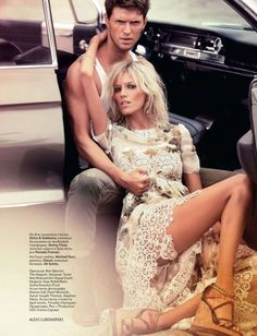 Anja Rubik & Sasha Knezevic for Vogue Russia February 2011 by Alexi Lubomirski