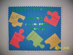 bulletin board ideas for grammar | Great Reading Library Bulletin Board » Fractions Bulletin Board