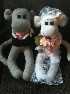 Sock Monkey Wedding Keepsake Bride and by SockMonkeyEmporiumUK, $65.00