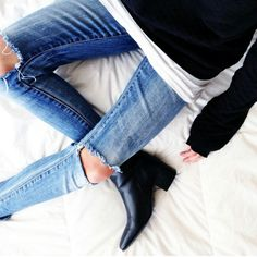 denim and layers #minimal #style