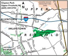 Map to Clayton Park