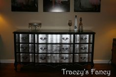 French Provincial Silver Leaf Dresser  MADE TO by TraceysFancy, $1200.00