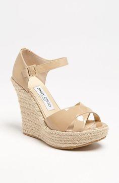 Sweet. Jimmy Choo Wedge Sandals.