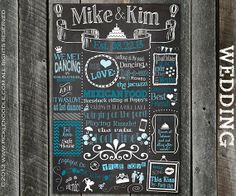 Wedding Chalkboard Poster Sign Printable /DIGITAL / Wedding / Engagement / True Love / Wedding Keepsake / Marriage / Plus FREE Web File