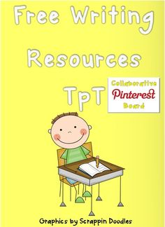 Free Writing Resources TpT, collaborative board.