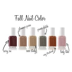 Here are some fun fall nail colours and what they say about you! @Rachel Gershon these are colors we might have to try :) along w the new 2014 essie fall line!