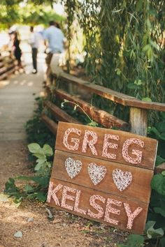 string wedding signs   this would take forever but it's really cool..Will definitely go with my barn wedding idea! :)