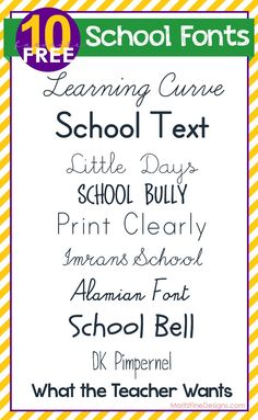 school theme, free school, school font, print clear, backtoschool craft