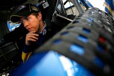 It's time to Caption This! What is Brad Keselowski thinking in this photo? (Photo: Getty) kyle busch, galleries, nascar, brad keselowski, cups, racing, pumps, jimmie johnson, roads