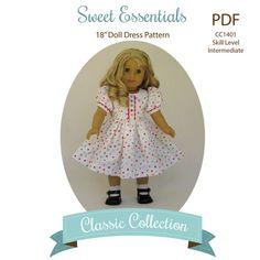 Sweet Essentials Doll Dress PDF Sewing Pattern by MyAngieGirl via Etsy, $9.50