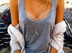 cotton, cartier, sweater, luxuri jewelri, outfit, diy necklace, necklace holder, tank, eagl claw