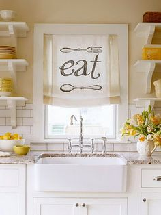 yellow kitchen accents