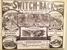 The famous 19th century Switch-Back Railroad, Jim Thorpe (Mauch Chunk), PA.
